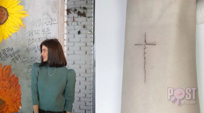 Look: Anne Curtis gets a tattoo in Korea