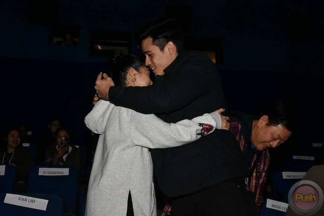Xian Lim attended the premiere of Kim Chiu's movie The Ghost Bride.