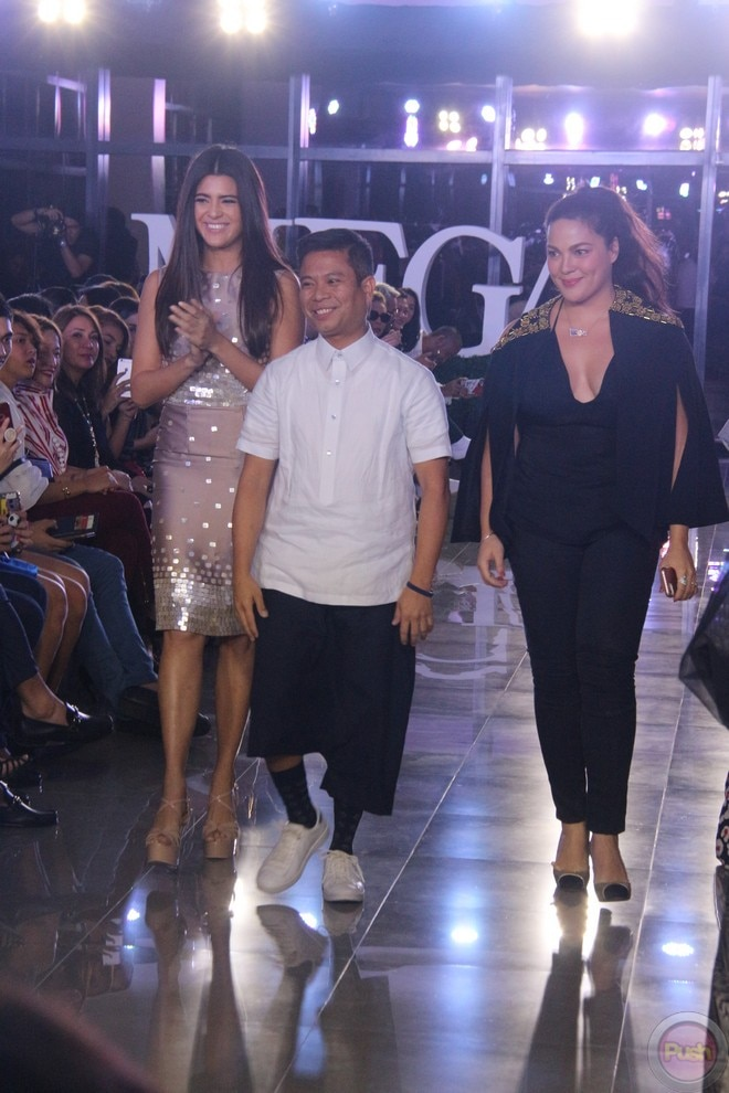 KC Concepion walked the runway of MEGA Fashion Week to support designer Puey Quiñones.