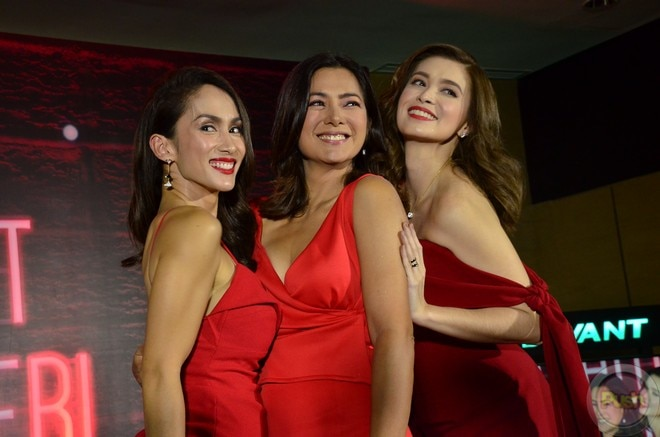 Alice, Ina, Sunshine are looking fit at the Century Tuna Premium Red media launch.