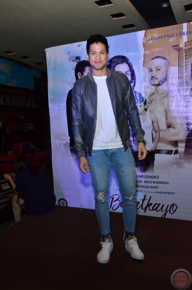 Vin Abrenica and Joseph Marco attended the premiere of Aiko Melendez's movie 'Balatkayo.'