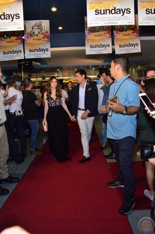 Marian Rivera and Charlene Gonzalez were present at the premiere of 'Seven Sundays.'