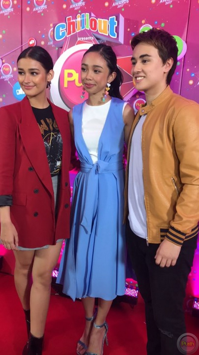 Liza Soberano, Maymay Entrata and Edward Barber