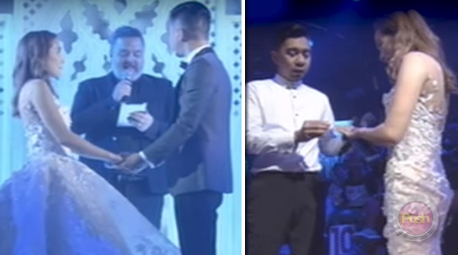 Teddy Corpuz marries wife Jasmin for the second time during their Magpasikat performance