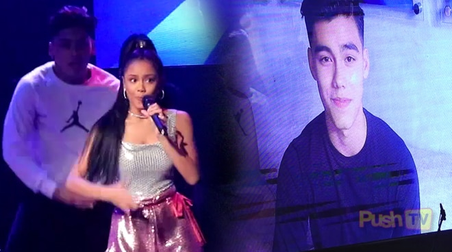 """Bailey May gives sweet message to Ylona Garcia during """"Arrival"""" concert"""