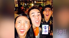 LOOK: Maymay, Edward and Marco compete for the wackiest face