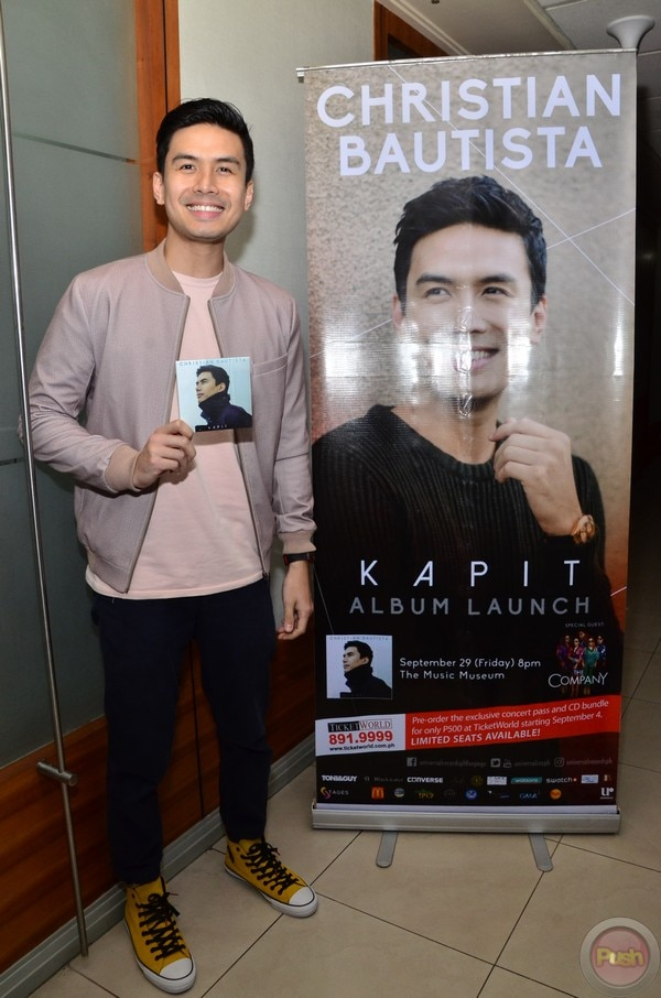 Christian Bautista launched his new album titled Kapit