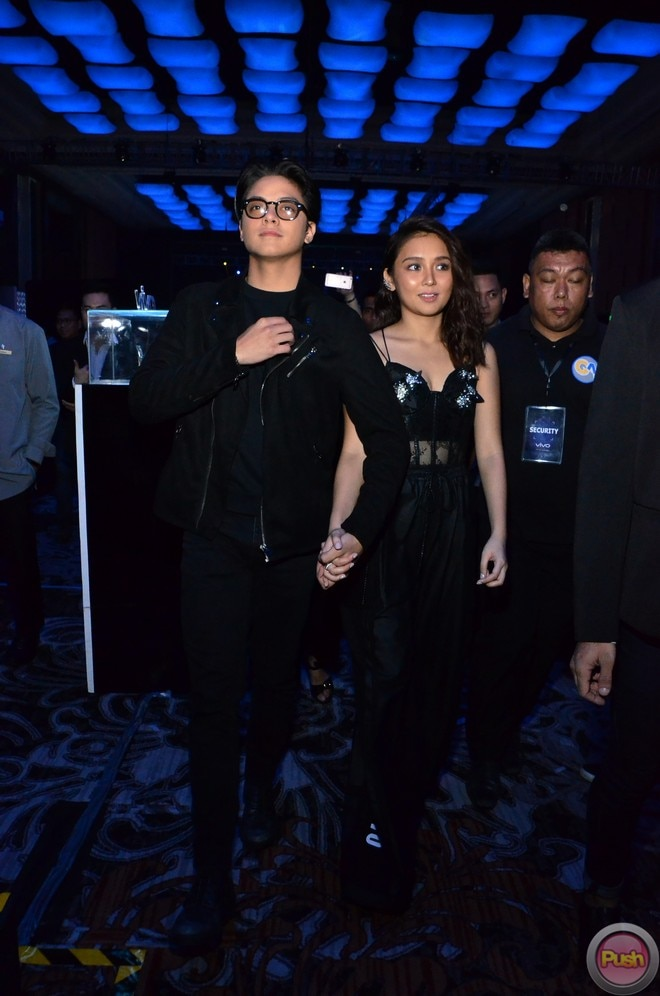 Celebrities flocked to the Vivo V7+'s launch. KathNiel, arrived with a sports car, and stood out.