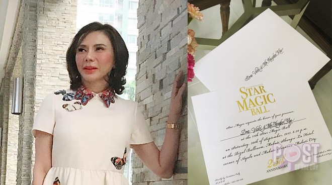 LOOK: Vicki Belo gets an invitation to the 2017 Star Magic Ball
