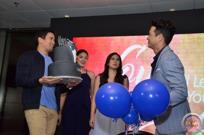 Jericho got a birthday surprise from his co-stars in the new  series 'Love Will Lead You Back.'