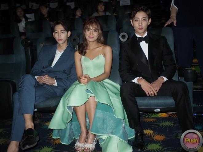 Devon Seron, Hyun Woo and Jin Joo Hyung graced the premiere night of  'You With Me.'
