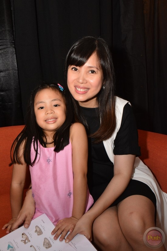 Nina Corpuz with her daughter