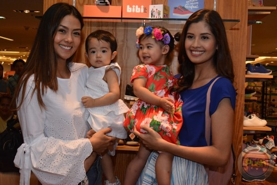 Beautiful moms with their pretty babies