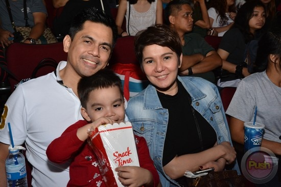 Amy Perez and husband Carlo Castillo with their son