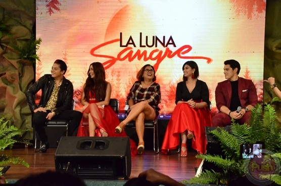 The main cast of La Luna Sangre