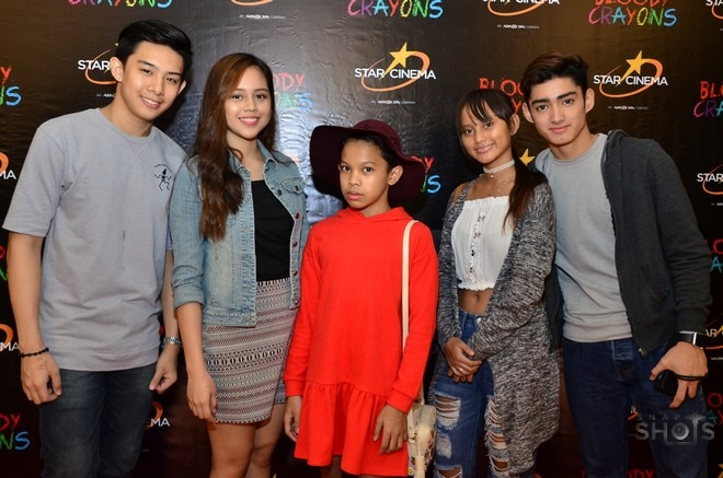 Celebrities attend Bloody Crayons' special screening