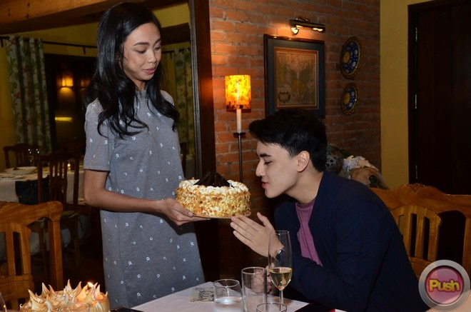Maymay brings Edward his cake