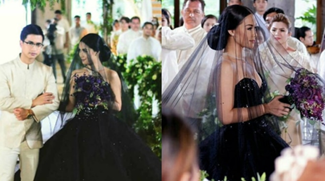 Maja Salvador in black wedding gown stuns netizens