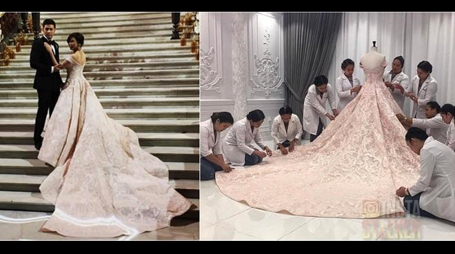LOOK: Vicki Belo's elegant wedding gown