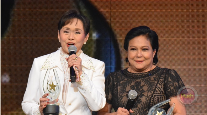 Nora Aunor and Vilma Santos receive Lifetime Achievement Awards at 33rd Star Awards for Movies