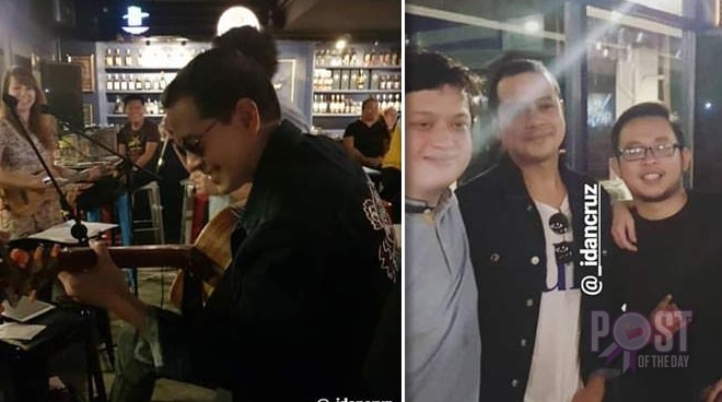 SPOTTED: John Lloyd Cruz jams in a pub in Cebu
