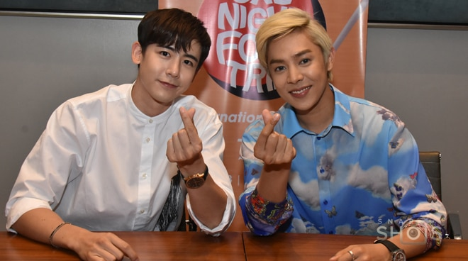 Korean stars Xander Lee and Nichkhun are in the Philippines for One Night Food Trip by tVN Asia
