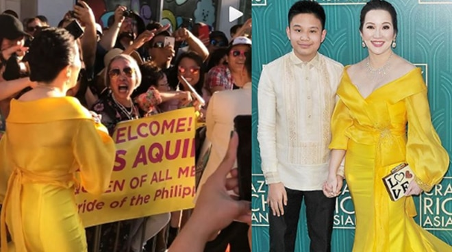 Watch: Kris Aquino greets her filipino fans at the Red Carpet Premiere of Crazy Rich Asians