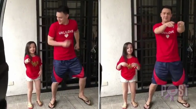 Patrick Garcia does the 'In My Feelings' challenge with daughter Michelle