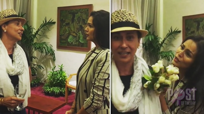 WATCH: Iza Calzado and Cherie Gil recreate famous scene from 'Bituing Walang Ningning'