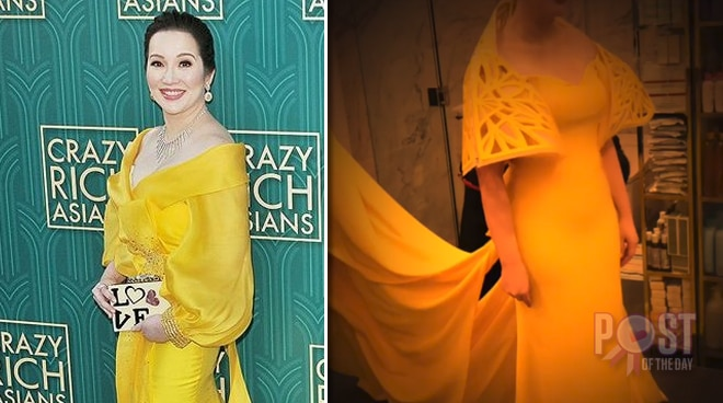 Here's why Kris Aquino decided not to wear Francis Libiran's gown at the 'Crazy Rich Asians' premiere night