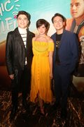 Inigo Pascual, Maris Racal and more celebs attend Sue, Markus and Jameson's movie.