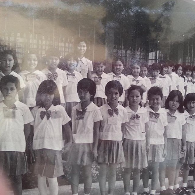 Can you spot Sharon Cuneta? The singer shared her old class photo from St. Paul College.