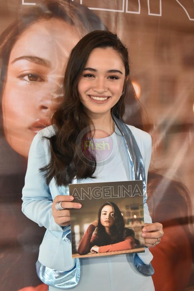 Present si Sunshine Cruz at ang boyfriend nitong si Macky Mathay sa album launch ni Angelina Cruz.