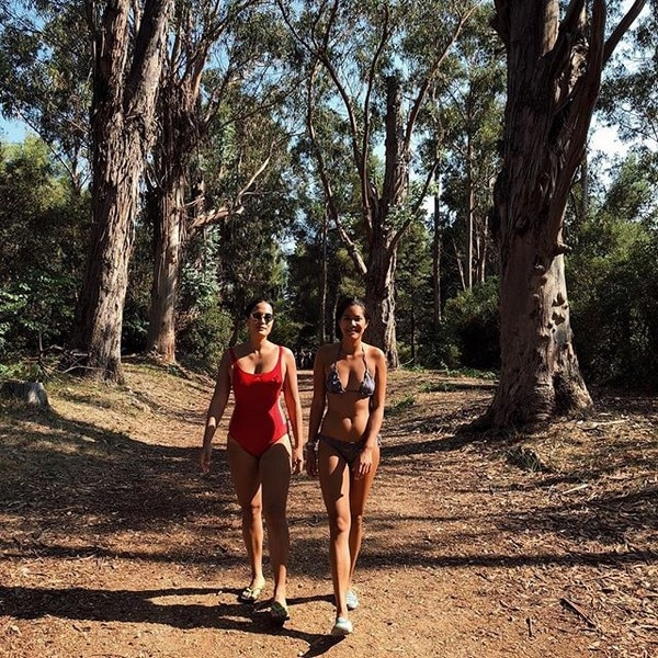 Isabelle Daza and her friend took a walk in the woods in an island in France.