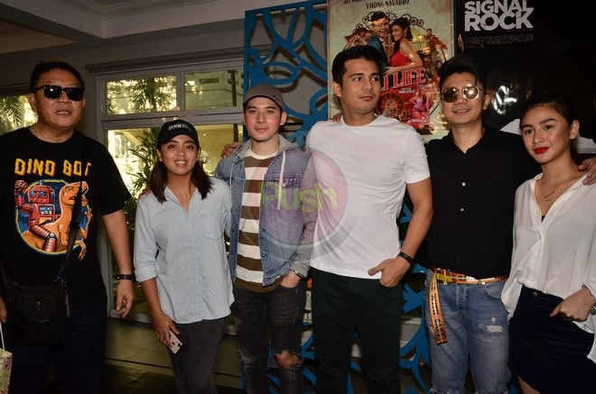 The cast and crew of the PPP entries Unli Life and Signal Rock enjoyed a thanksgiving party last Aug