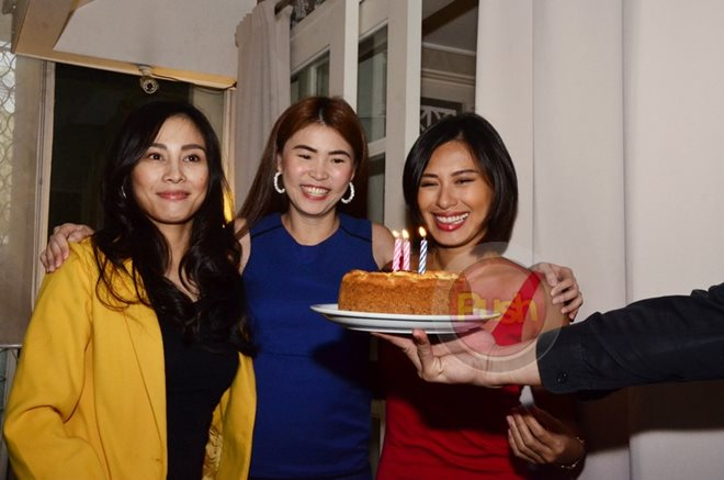 Former PBB housemates Dionne, Gee Ann and Beatriz celebrated their 33rd birthdays together.