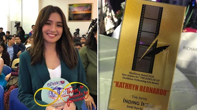 Kathryn Bernardo nanalo ng pangalawang Best Actress Award para sa 'The Hows of Us'