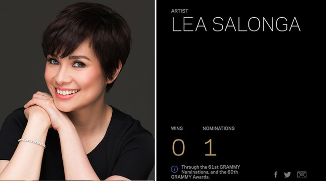 Lea Salonga gets her first Grammy nomination