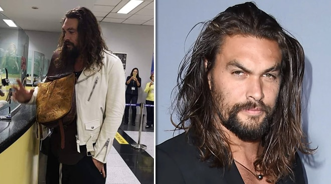 LOOK: 'Aquaman' cast Jason Momoa, Amber Heard arrive in Manila