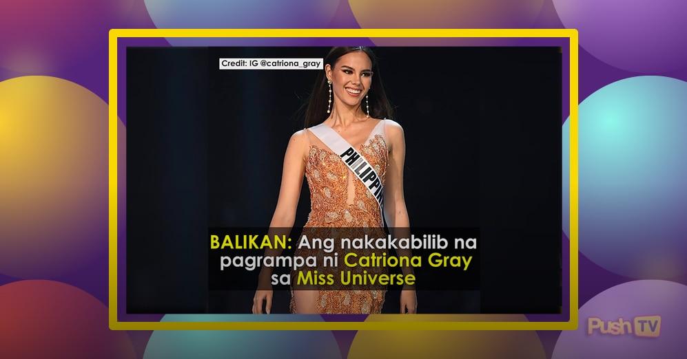 Balikan: Ang nakakabilib na pagrampa ni Catriona Gray sa Miss Universe Preliminary Competition