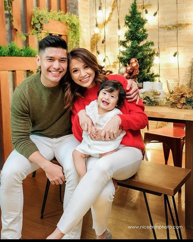 JC de Vera, Rikkah Alyssa Cruz, and daughter Lana Athena