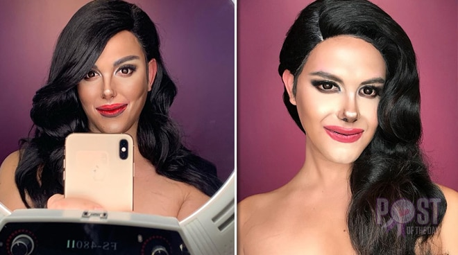 LOOK: Paolo Ballesteros transforms into Miss Universe 2018 Catriona Gray