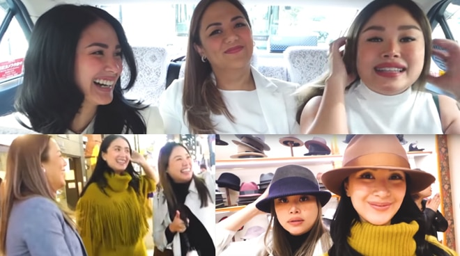 Heart Evangelista bonds with sisters in Japan