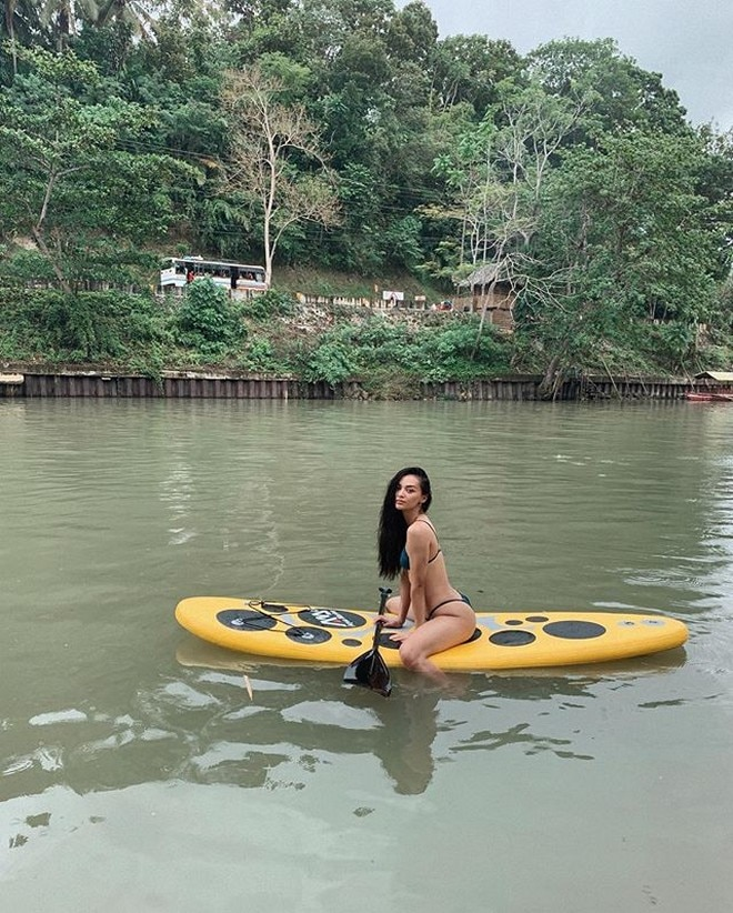 """Kylie Versoza spends """"Christmas by the river."""""""