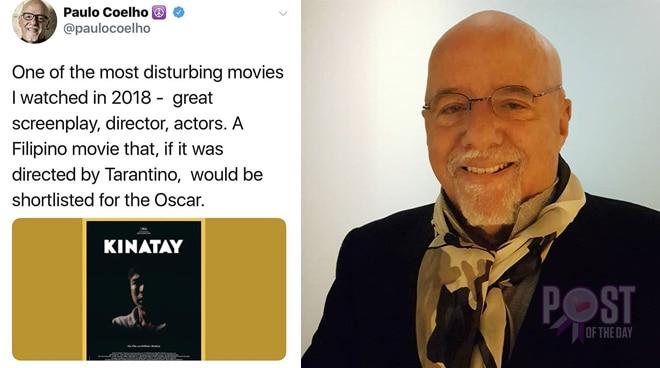 Bestselling author Paulo Coelho praises 'Kinatay'