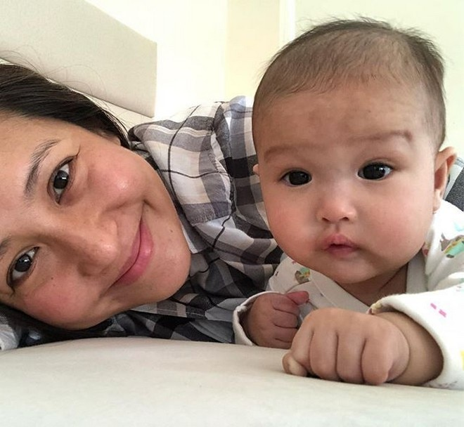 Jolina Magdangal gave birth to baby Vika last May. It is her second child with husband Mark Escueta.