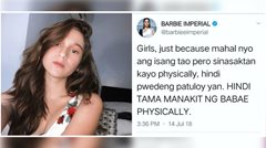 Barbie Imperial posts about physical abuse, deletes it after