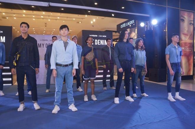 Tommy Esguerra, Richard Juan and Kaila Estrada modeled for SM's My Denim fashion show.