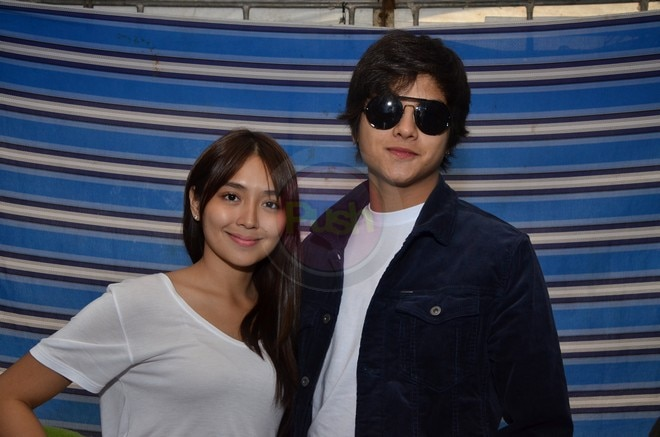 KathNiel at the backstage of their 'The Hows of Us' fans day