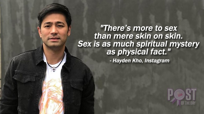 Hayden Kho Jr. responds to a netizen who mocks his stand on premarital sex